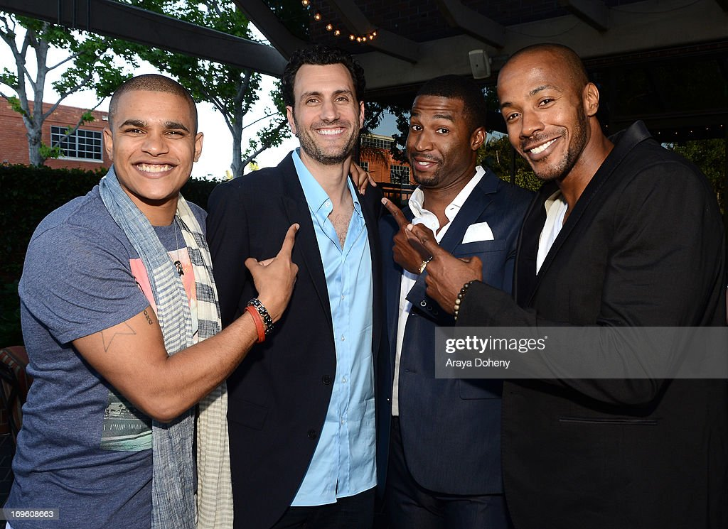 Actor/rapper Jonathan 'Lil J' McDaniel, creator/director James LaRosa, actors Robert Christopher Riley, and McKinley Freeman attend VH1's 'Hit The Floor' screening at Tiato on May 28, 2013 in Santa Monica, California. V_HTF_05_26_13_0159.JPG