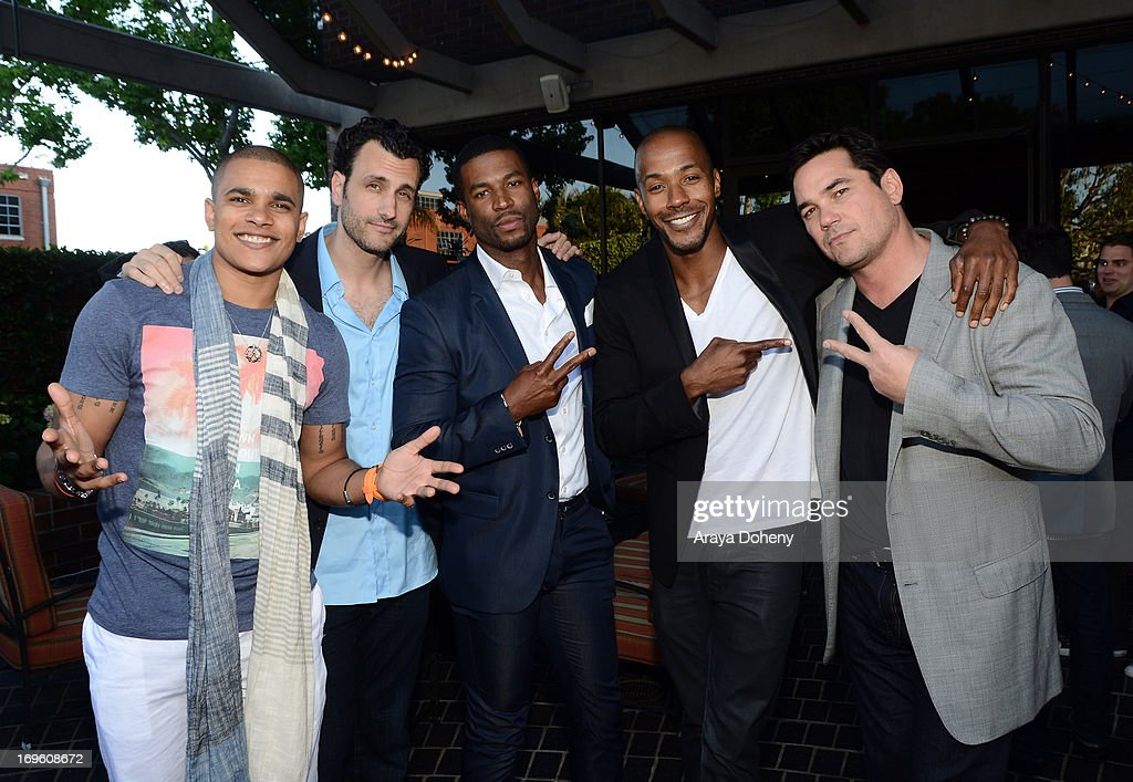 Actor/rapper Jonathan 'Lil J' McDaniel, creator/director James LaRosa, actors Robert Christopher Riley, McKinley Freeman, and Dean Cain attend VH1's 'Hit The Floor' screening at Tiato on May 28, 2013 in Santa Monica, California. V_HTF_05_26_13_0174.JPG