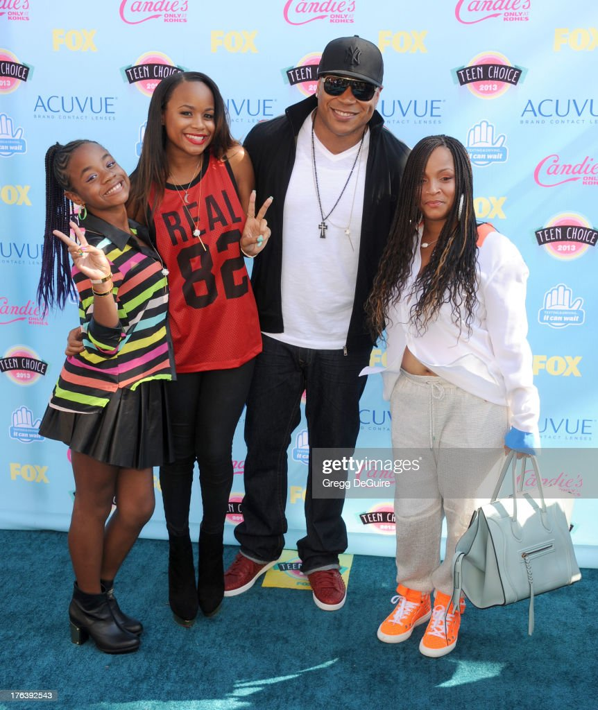 Actor/rapper LL Cool J and family arrive at the 2013 Teen Choice Awards at Gibson Amphitheatre on August 11, 2013 in Universal City, California.