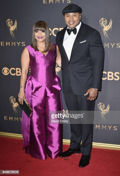 Actor/rapper LL Cool J and Simone Smith attend the 69th Annual Primetime Emmy Awards at Microsoft Theater on September 17 2017 in Los Angeles...