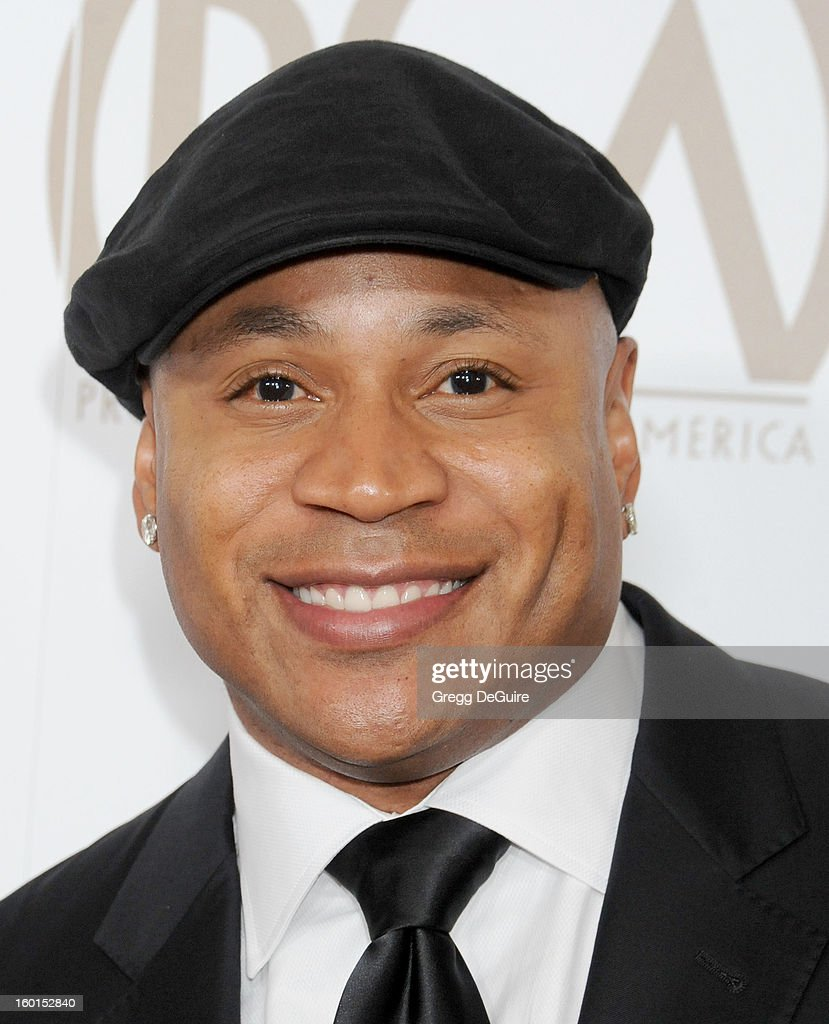 Actor/rapper <a gi-track='captionPersonalityLinkClicked' href=/galleries/search?phrase=LL+Cool+J&family=editorial&specificpeople=201567 ng-click='$event.stopPropagation()'>LL Cool J</a> arrives at the 24th Annual Producers Guild Awards at The Beverly Hilton Hotel on January 26, 2013 in Beverly Hills, California.