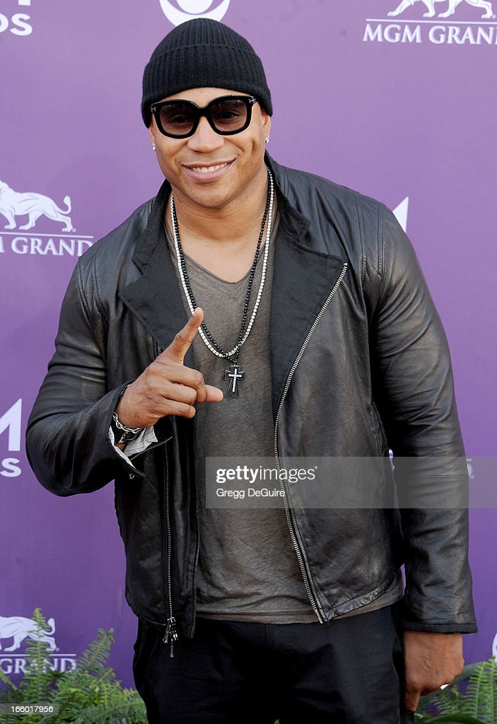 Actor/rapper <a gi-track='captionPersonalityLinkClicked' href=/galleries/search?phrase=LL+Cool+J&family=editorial&specificpeople=201567 ng-click='$event.stopPropagation()'>LL Cool J</a> arrives at the 48th Annual Academy Of Country Music Awards at MGM Grand Garden Arena on April 7, 2013 in Las Vegas, Nevada.