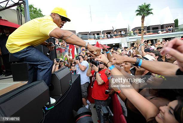 Actor/rapper LL Cool J performs during 'Ditch Saturdays' at the Palms Pool Bungalows at The Palms Casino Resort on August 31 2013 in Las Vegas Nevada