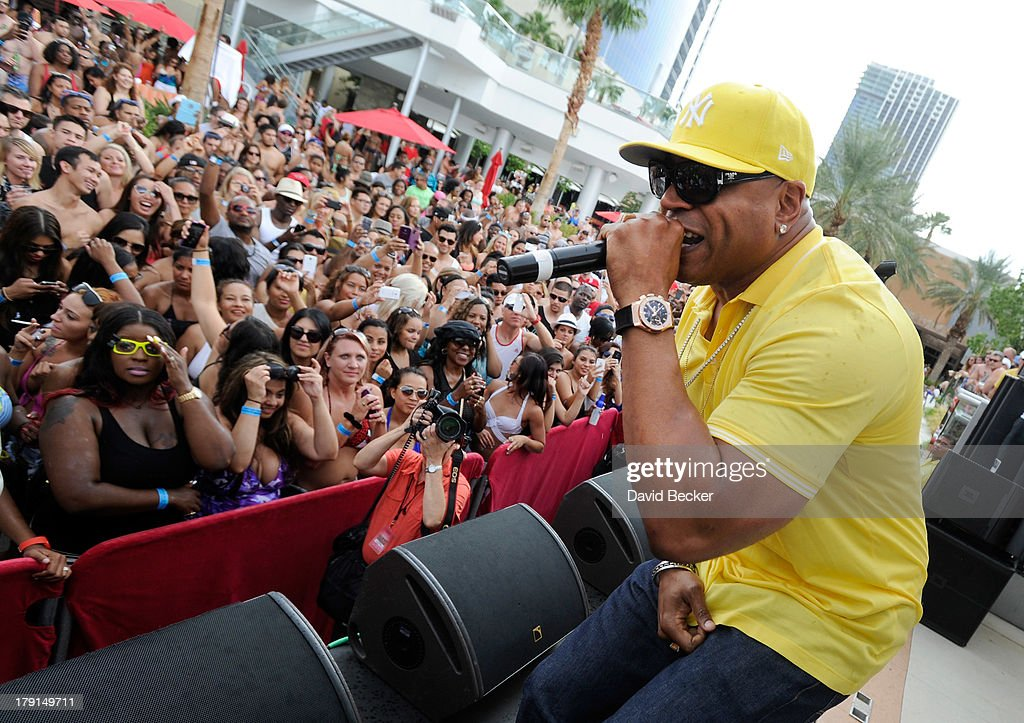 Actor/rapper <a gi-track='captionPersonalityLinkClicked' href=/galleries/search?phrase=LL+Cool+J&family=editorial&specificpeople=201567 ng-click='$event.stopPropagation()'>LL Cool J</a> performs during 'Ditch Saturdays' at the Palms Pool & Bungalows at The Palms Casino Resort on August 31, 2013 in Las Vegas, Nevada.