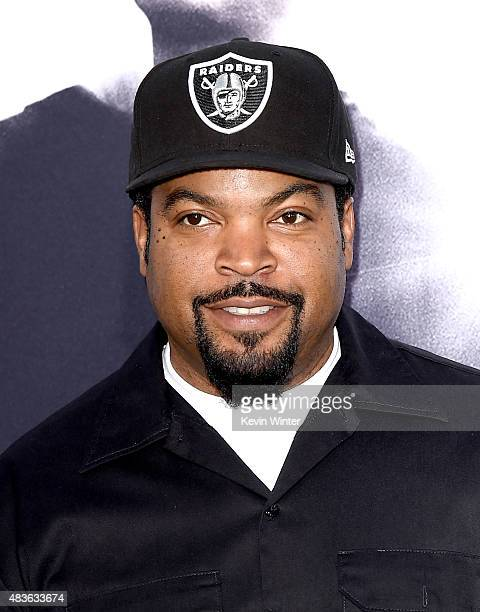 Actor/rapper O'Shea Jackson aka Ice Cube arrives at the premiere of Universal Pictures and Legendary Pictures' 'Straight Outta Compton' at the...