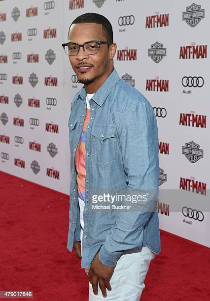Actor/rapper TI attends Audi celebrates the world premiere of 'AntMan' at The Dolby Theatre on June 29 2015 in Los Angeles California