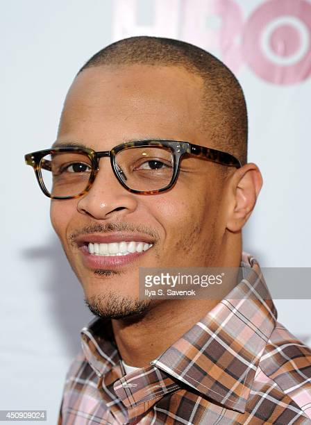 Actor/rapper TI attends the 'Think Like A Man Too' premiere during the 2014 American Black Film Festival at SVA Theater on June 19 2014 in New York...