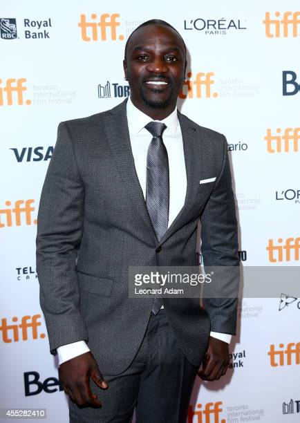 Actor/recording artist Akon attends the 'American Heist' premiere during the 2014 Toronto International Film Festival at Princess of Wales Theatre on...