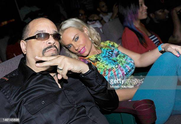 Actor/Recording Artist IceT and wife Coco attend 'The Art Of Rap' Atlanta Premiere Hosted By IceT at AMC Phipps Plaza on June 10 2012 in Atlanta...
