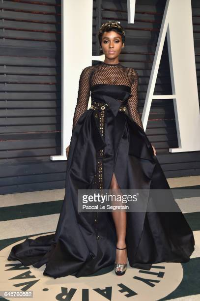 Actorrecording artist Janelle Monae attends the 2017 Vanity Fair Oscar Party hosted by Graydon Carter at Wallis Annenberg Center for the Performing...
