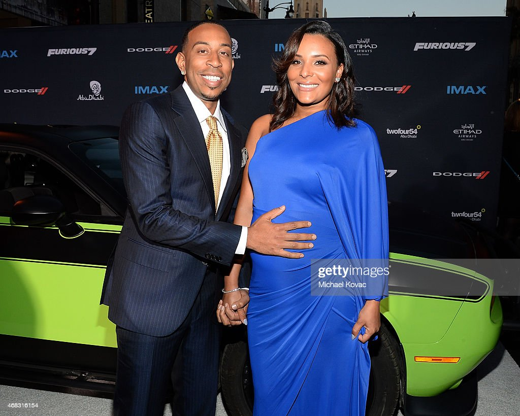 Actor/recording artist <a gi-track='captionPersonalityLinkClicked' href=/galleries/search?phrase=Ludacris&family=editorial&specificpeople=203034 ng-click='$event.stopPropagation()'>Ludacris</a> (L) and Eudoxie Agnan attend the Furious 7 Los Angeles Premiere Sponsored by Dodge at TCL Chinese 6 Theatres on April 1, 2015 in Hollywood, California.