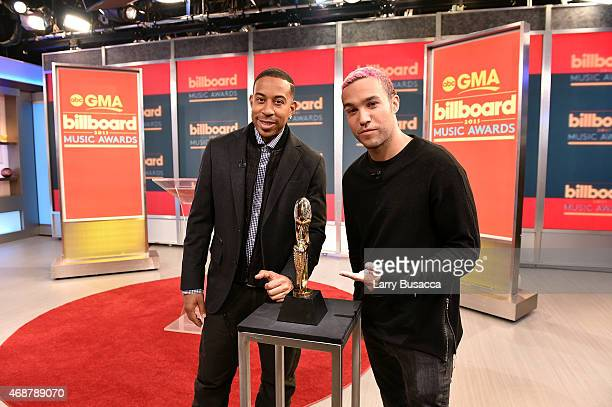 Actor/recording artist Ludacris and musician Peter Wentz at the '2015 Billboard Music Awards' Finalists Live Announcement on 'Good Morning America'...
