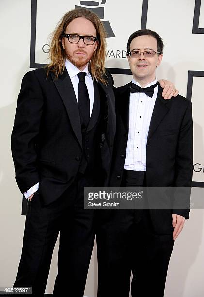 Actor/recording artist Tim Minchin and producer Van Dean attend the 56th GRAMMY Awards at Staples Center on January 26 2014 in Los Angeles California