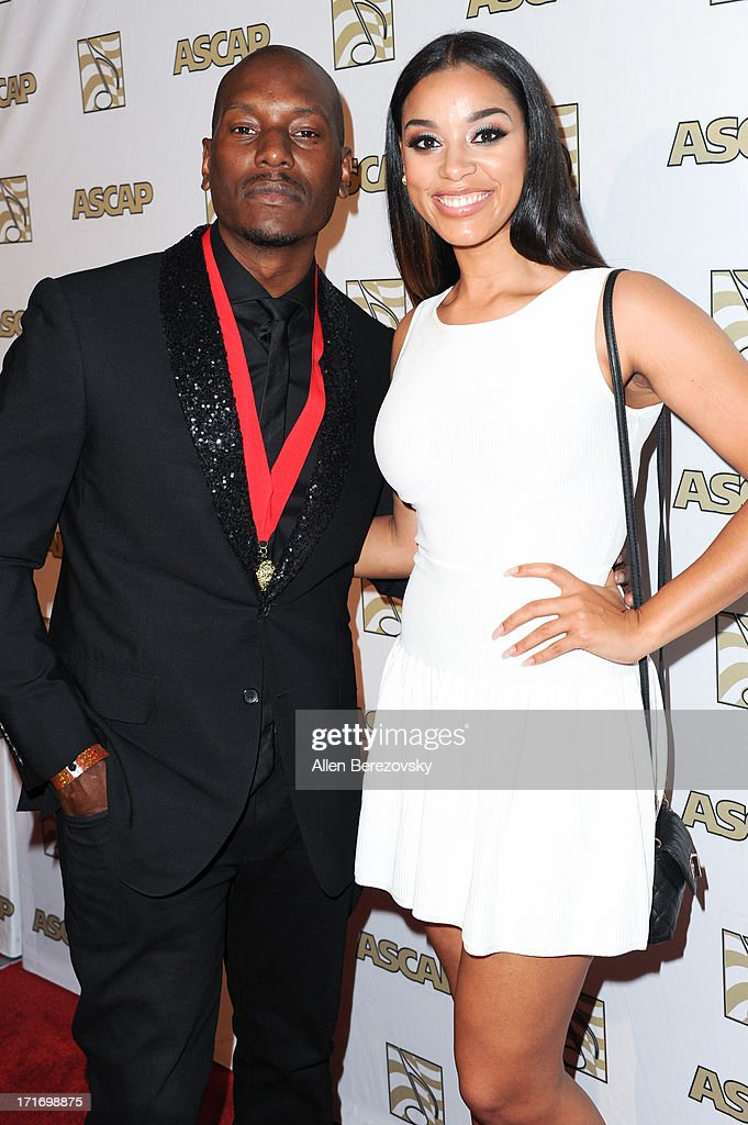 Actor/recording artist Tyrese Gibson and model Crystal Smith arrive at ASCAP's 26th Annual Rhythm & Soul Music Awards at The Beverly Hilton Hotel on June 27, 2013 in Beverly Hills, California.