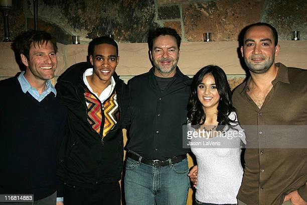 Actors Aaron Eckhart Eugene Jones director Alan Ball actors Summer Bishil and Peter Macdissi attend the 'Towelhead' party during the 2008 Sundance...