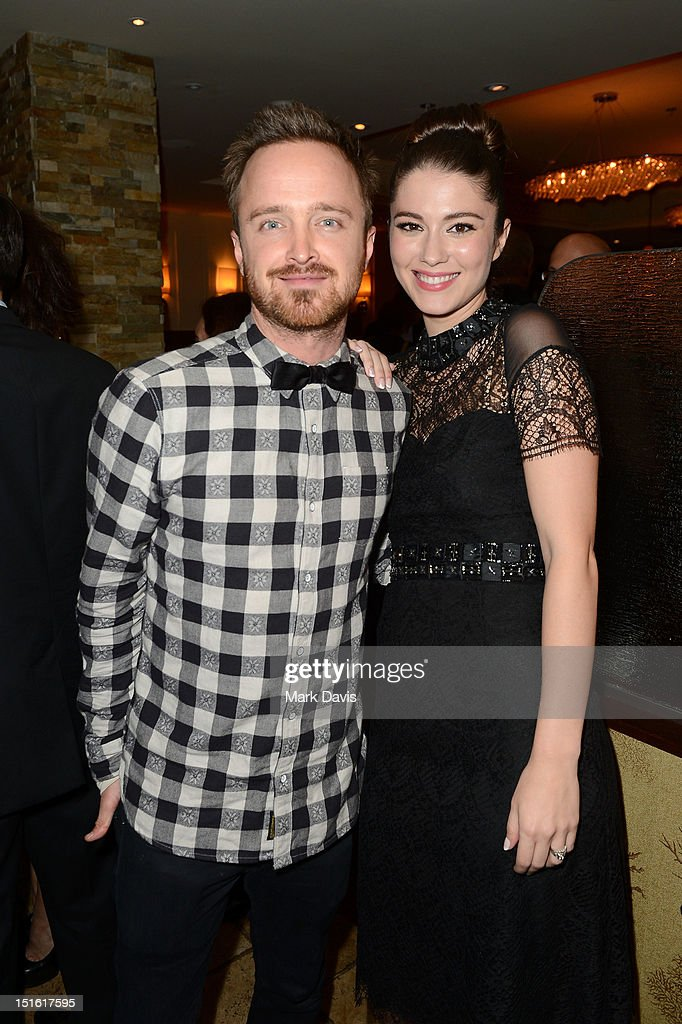 Actors <a gi-track='captionPersonalityLinkClicked' href=/galleries/search?phrase=Aaron+Paul+-+Actor&family=editorial&specificpeople=693211 ng-click='$event.stopPropagation()'>Aaron Paul</a> and <a gi-track='captionPersonalityLinkClicked' href=/galleries/search?phrase=Mary+Elizabeth+Winstead&family=editorial&specificpeople=782914 ng-click='$event.stopPropagation()'>Mary Elizabeth Winstead</a> attend the Sony Pictures cocktail hour during the 2012 Toronto International Film Festival at the Creme Brasserie on September 8, 2012 in Toronto, Canada.