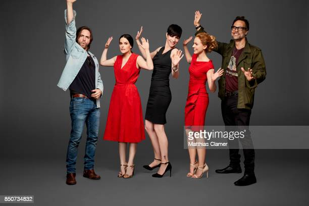 Actors Aaron Stanford Emily Hampshire Alisen Down Amanda Schull and Todd Stashwick from 12 Monkeys are photographed for Entertainment Weekly Magazine...