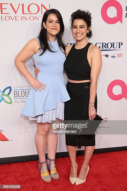 Actors Abbi Jacobson and Ilana Glazer attend Elton John AIDS Foundation's 14th Annual An Enduring Vision Benefit at Cipriani Wall Street on November...