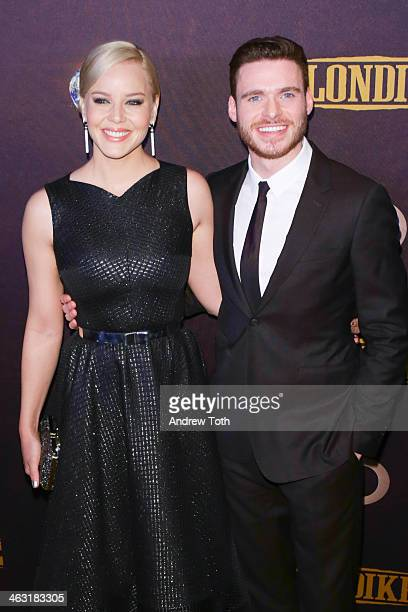 Actors Abbie Cornish and Richard Madden attend the 'Klondike' series premiere at Best Buy Theater on January 16 2014 in New York City