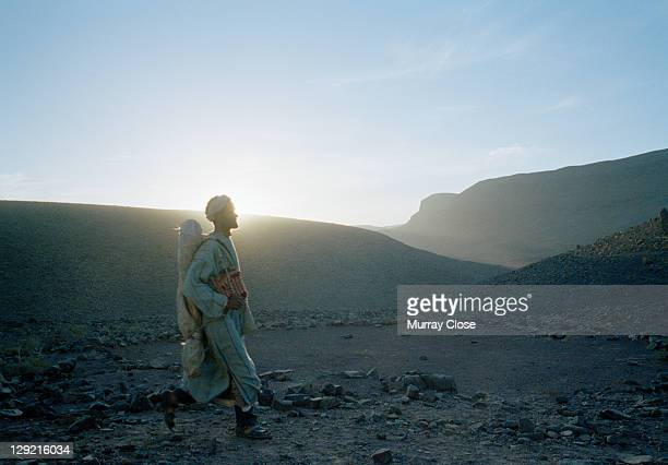 Actors Abdelkader Bara as Hassan in a scene from the movie 'Babel' being filmed on location in Morocco 2005 The film was directed by Alejandro...