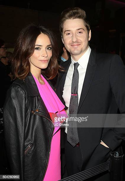 Actors Abigail Spencer and Derek Johnson attend The 40th Annual Los Angeles Film Critics Association Awards at InterContinental Hotel on January 9...