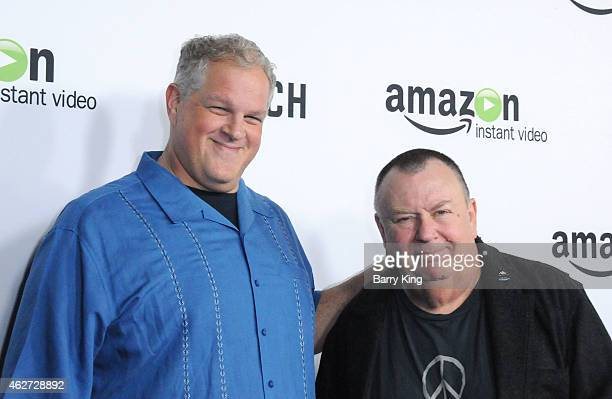 Actors Abraham Benrubi and Troy Evans arrive at screening of Amazon's 1st Original Drama Series 'Bosch' at The Dome at Arclight Hollywood on February...