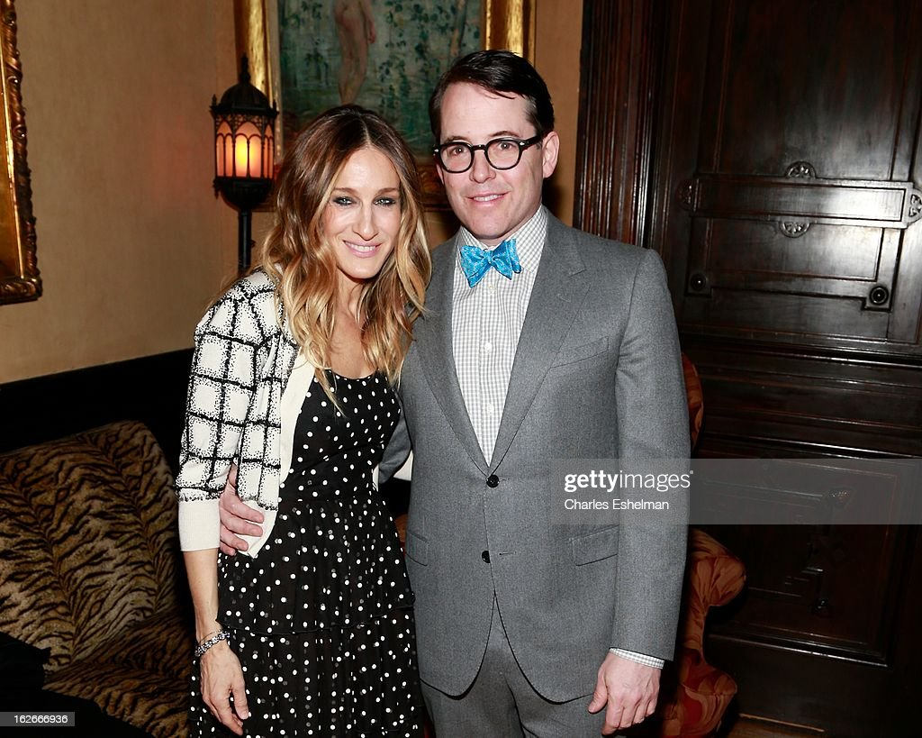 Actors Actor <a gi-track='captionPersonalityLinkClicked' href=/galleries/search?phrase=Matthew+Broderick&family=editorial&specificpeople=201912 ng-click='$event.stopPropagation()'>Matthew Broderick</a> and <a gi-track='captionPersonalityLinkClicked' href=/galleries/search?phrase=Sarah+Jessica+Parker&family=editorial&specificpeople=201693 ng-click='$event.stopPropagation()'>Sarah Jessica Parker</a> attend the 10th Annual Love 'N' Courage Benefit For TNC's Emerging Playwrights Program at The National Arts Club on February 25, 2013 in New York City.
