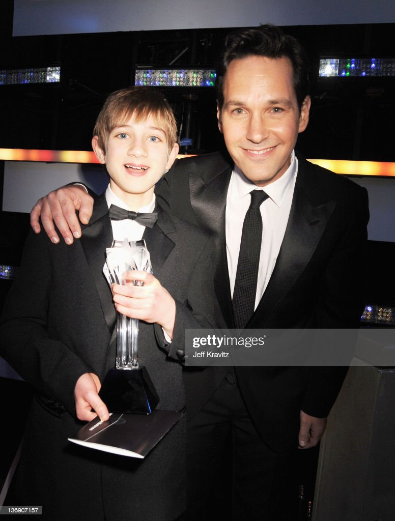 Actors actor Thomas Horn and <a gi-track='captionPersonalityLinkClicked' href=/galleries/search?phrase=Paul+Rudd&family=editorial&specificpeople=209014 ng-click='$event.stopPropagation()'>Paul Rudd</a> attends the 17th Annual Critics' Choice Movie Awards held at The Hollywood Palladium on January 12, 2012 in Los Angeles, California.