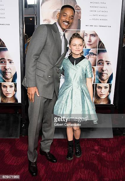 Actors Actor Will Smith and Kylie Rogers attend 'Collateral Beauty' World Premiere at Frederick P Rose Hall Jazz at Lincoln Center on December 12...