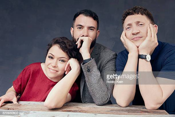 Actors Actors Tatiana Maslany and Tom Cullen with director Joey Klein 'The Other Half' 'The Other Half' are photographed for The Wrap on March 13...