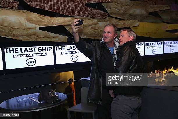 Actors Adam Baldwin and Eric Dane attend the 'The Last Ship' AllStar Viewing Party at Clyde Frazier's Wine Dine on February 15 2015 in New York City...