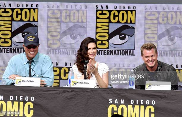 Actors Adam Baldwin Bridget Regan and Eric Dane at TNT's 'The Last Ship' with Eric Dane panel and exclusive sneak peek for season 4 during ComicCon...