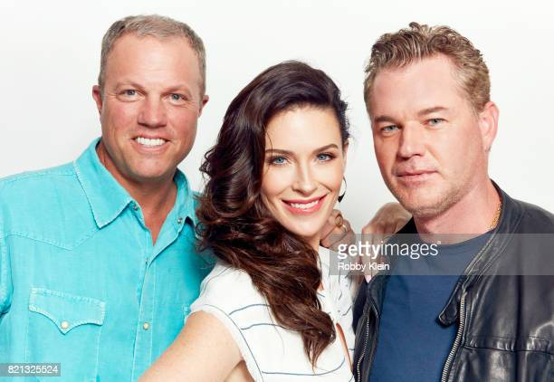 Actors Adam Baldwin Bridget Regan and Eric Dane from TNT's 'The Last Ship' pose for a portrait during ComicCon 2017 at Hard Rock Hotel San Diego on...