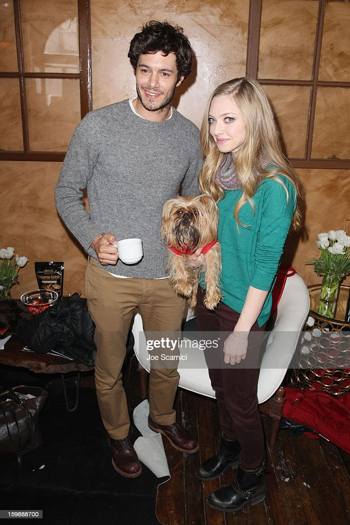 Actors Adam Brody and Amanda Seyfried attend Day 4 of the Variety Studio at 2013 Sundance Film Festival on January 22, 2013 in Park City, Utah.