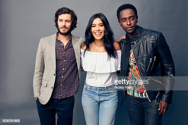 Actors Adam Brody Edi Gathegi and Otmara Marrero from Crackle's 'StartUp' are photographed for The Wrap on August 7 2016 in Beverly Hills California