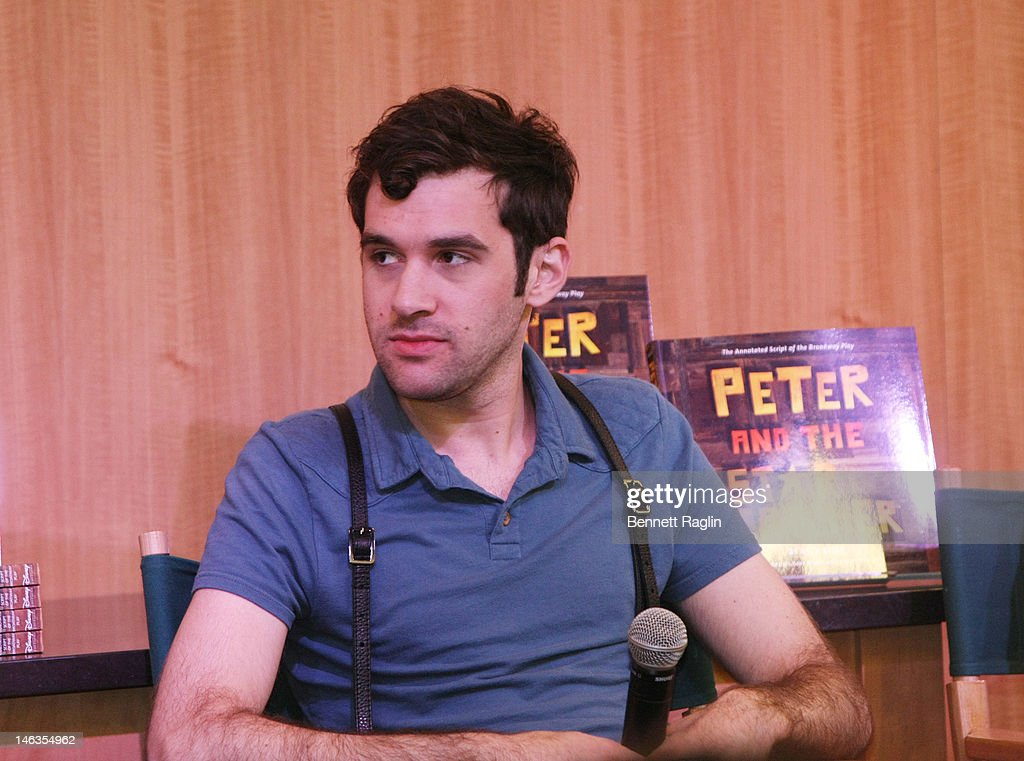 Actors Adam Chanler-Berat attends 'Peter And The Starcatcher' Q & A And Autograph Signing at Barnes & Noble, 86th & Lexington on June 14, 2012 in New York City.