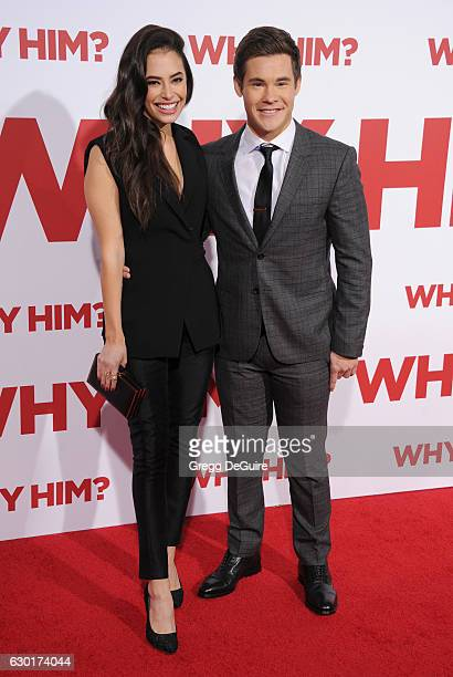Actors Adam DeVine and Chloe Bridges arrive at the premiere of 20th Century Fox's 'Why Him' at Regency Bruin Theater on December 17 2016 in Westwood...