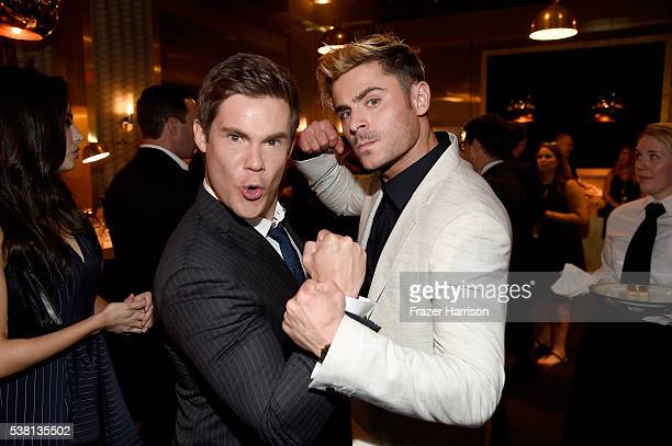 Actors Adam DeVine and Zac Efron attend Spike TV's 10th Annual Guys Choice Awards at Sony Pictures Studios on June 4 2016 in Culver City California