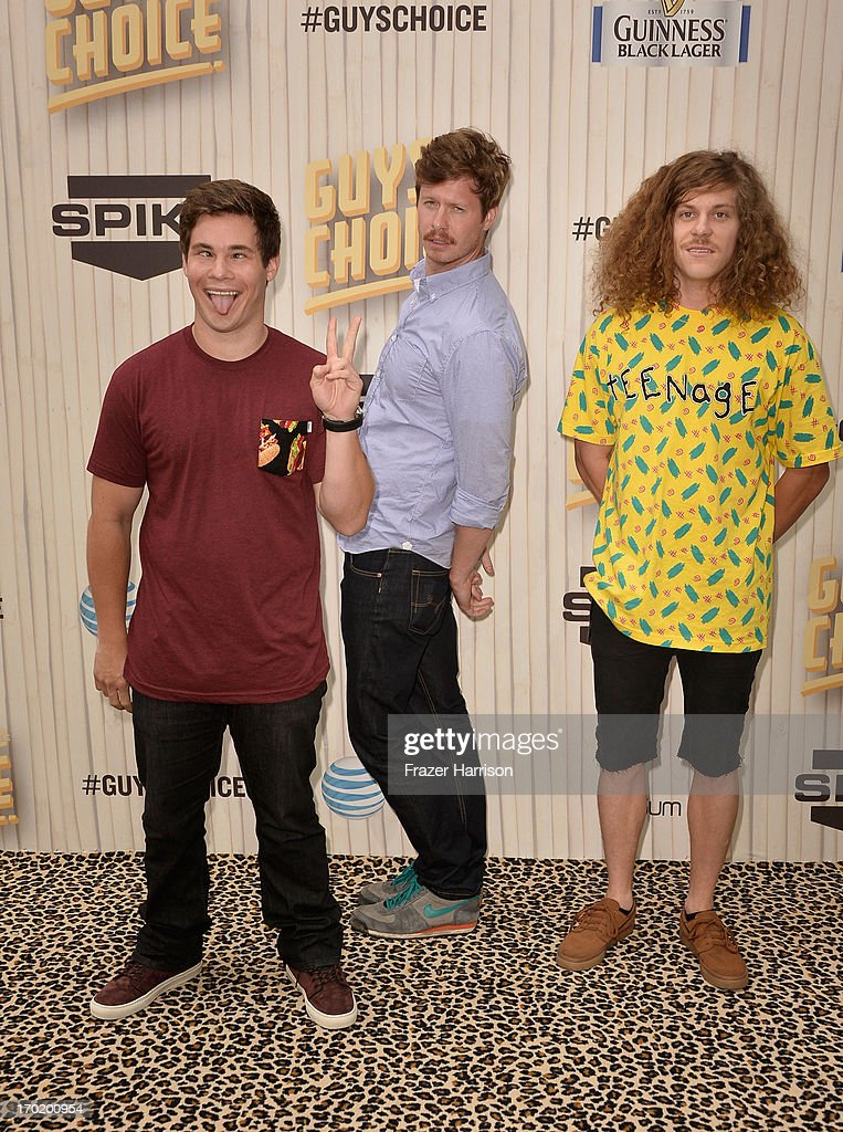 Actors Adam DeVine, Anders Holm, and Blake Anderson attend Spike TV's Guys Choice 2013 at Sony Pictures Studios on June 8, 2013 in Culver City, California.
