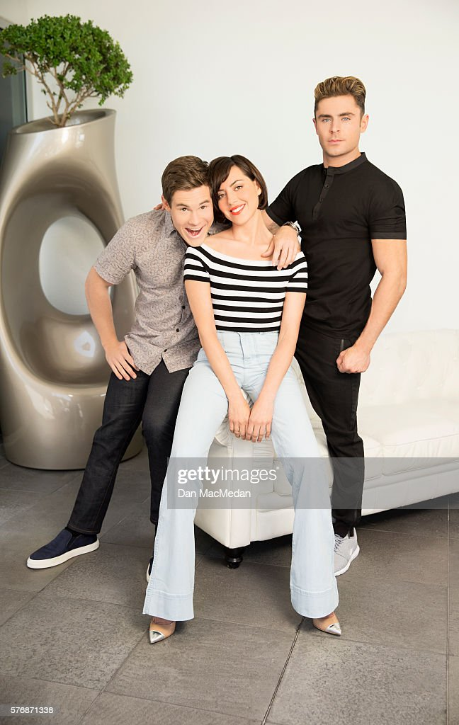 Actors Adam DeVine, Aubrey Plaza and Zac Efron are photographed for USA Today on May 18, 2016 in Los Angeles, California. PUBLISHED