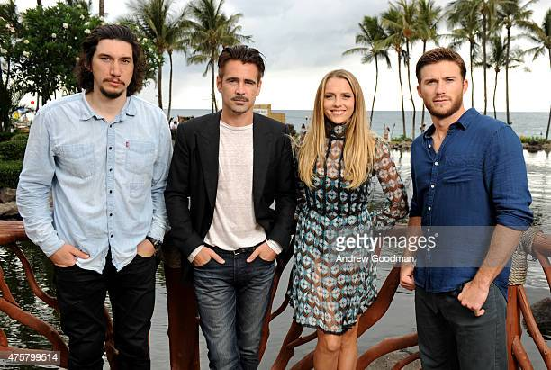 Actors Adam Driver Colin Farrell Teresa Palmer and Scott Eastwood attend the Taste of Summer Opening Night Party during the 2015 Maui Film Festival...