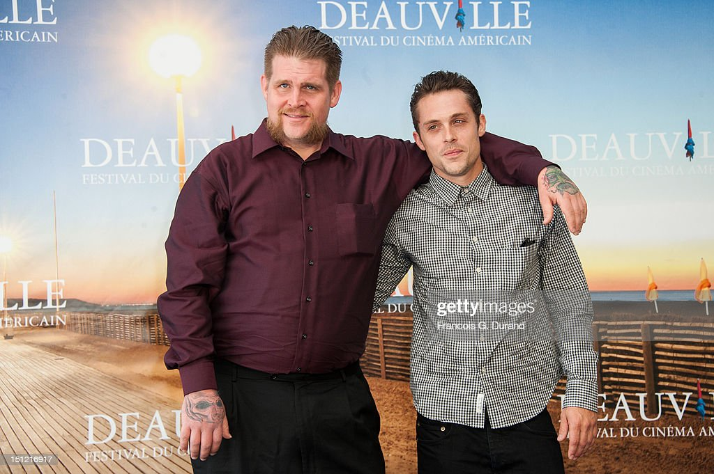 Actors Adam DuPaul (L) and Nico Stone attend the 'Booster' Photocall during the 38th Deauville American Film Festival on September 4, 2012 in Deauville, France.
