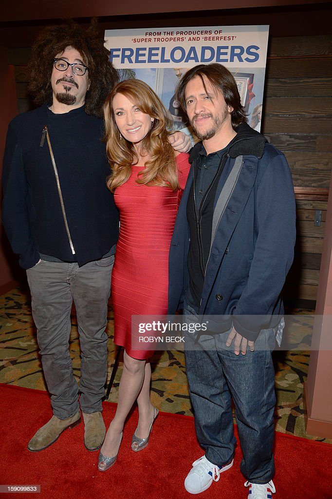 Actors Adam Duritz Jane Seymour and Clifton Collins Jr arrive the Los Angeles premiere of 'Freeloaders' at the Sundance Sunset Cinema in Los Angeles...