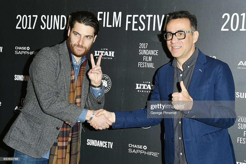 Actors Adam Pally (L) and Fred Armisen attend the 'Band Aid' Premiere at Eccles Center Theatre on January 24, 2017 in Park City, Utah.