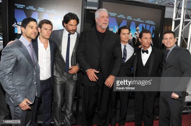 Actors Adam Rodriguez Alex Pettyfer Joe Manganiello Kevin Nash Matt Bomer Matthew McConaughey and Channing Tatum arrive at the premiere of Warner...