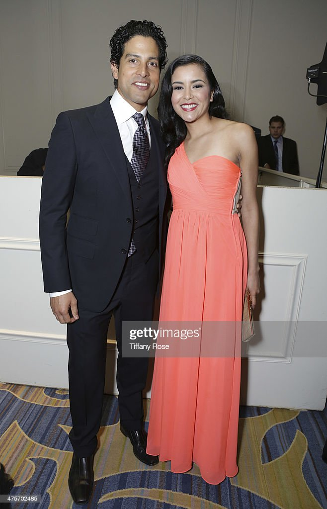Actors Adam Rodriguez and Emily Rios attend Moet At The 17th Annual National Hispanic Media Coalition Impact Awards at the Beverly Wilshire Four Seasons Hotel on February 28, 2014 in Beverly Hills, California.