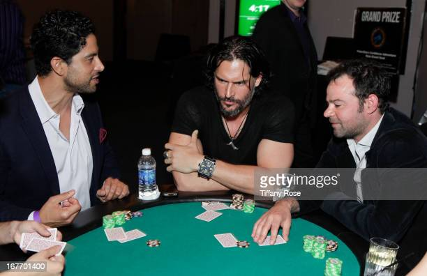 Actors Adam Rodriguez Joe Manganiello and Rory Cochrane attend Los Angeles Police Memorial Foundation's Celebrity Poker Tournament at Saban Theatre...