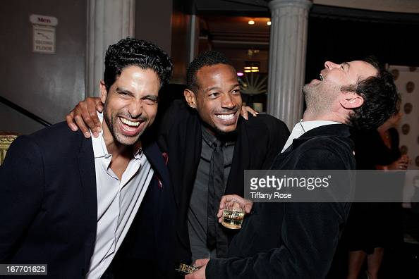 Actors Adam Rodriguez Marlon Wayans and Rory Cochrane attend Los Angeles Police Memorial Foundation's Celebrity Poker Tournament at Saban Theatre on...