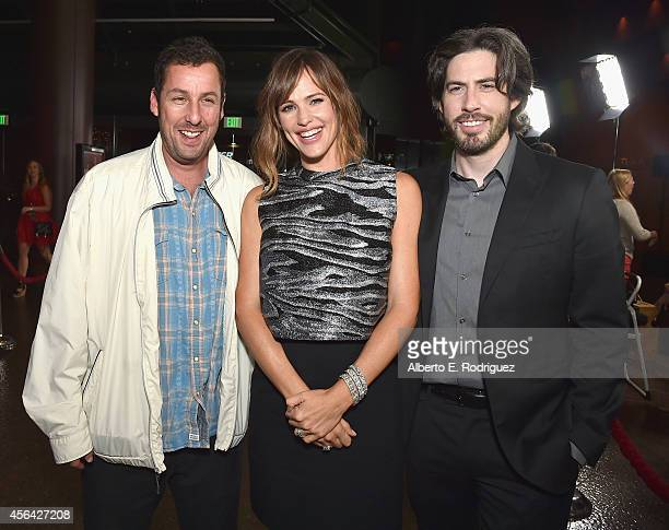 Actors Adam Sandler Jennifer Garner and director Jason Reitman attend the premiere of Paramount Pictures' 'Men Women Children' at Directors Guild of...