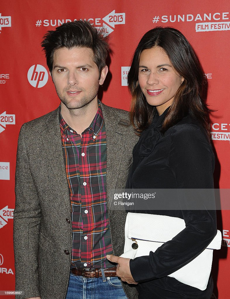 Actors Adam Scott and <a gi-track='captionPersonalityLinkClicked' href=/galleries/search?phrase=Naomi+Scott+-+Producente&family=editorial&specificpeople=15246195 ng-click='$event.stopPropagation()'>Naomi Scott</a> attend the 'A.C.O.D.' Premiere during the 2013 Sundance Film Festival at Eccles Center Theatre on January 23, 2013 in Park City, Utah.